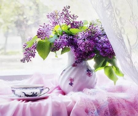 bouquet de fleurs lilas